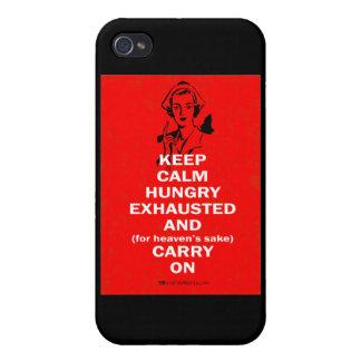 Enfermera - guarde la calma y continúe iPhone 4/4S funda
