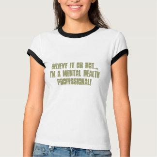 Enfermera-Humor de la salud mental Remera