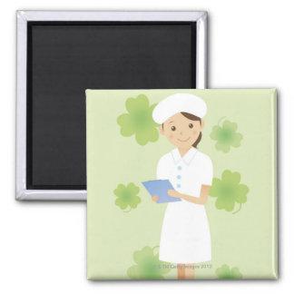 Enfermera Imán Cuadrado