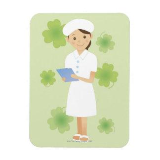 Enfermera Imanes Rectangulares