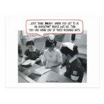 Enfermera importante - gorra adorable postal