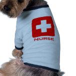 Enfermera-Inglés Camisa De Mascota