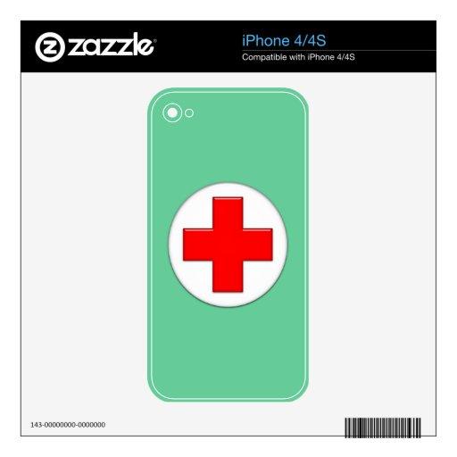 Enfermera iPhone 4 Calcomanía