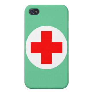 Enfermera iPhone 4 Carcasas
