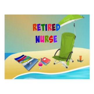Enfermera jubilada, diversión en el Sun Tarjeta Postal