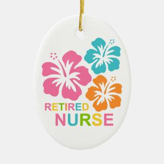 Enfermera jubilada hibisco adorno para reyes