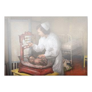 """Enfermera - la sala 1943 de la pediatría invitación 5"""" x 7"""""""