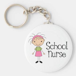 Enfermera linda de la escuela llavero redondo tipo pin