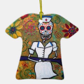 ENFERMERA mexicana Dia de los Muertos Ornament Ornatos