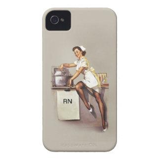 Enfermera modela de la guerra mundial del vintage  iPhone 4 Case-Mate funda