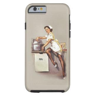 Enfermera modela de la guerra mundial del vintage funda de iPhone 6 tough