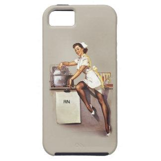 Enfermera modela de la guerra mundial del vintage  iPhone 5 Case-Mate coberturas