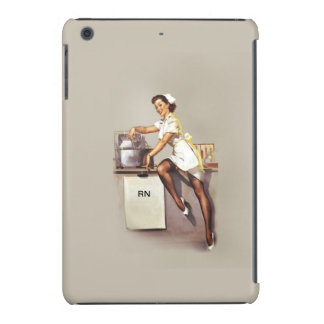 Enfermera modela RN retro de la guerra mundial del Funda Para iPad Mini Retina