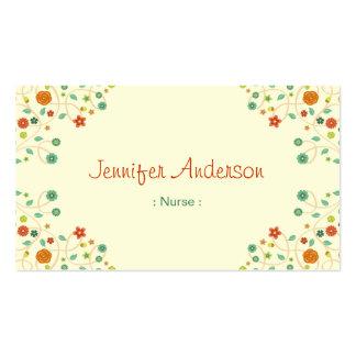 Enfermera - naturaleza elegante elegante tarjetas de visita