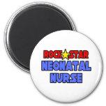 Enfermera neonatal de la estrella del rock imán