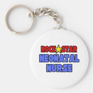Enfermera neonatal de la estrella del rock llaveros personalizados