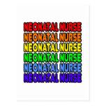 Enfermera neonatal del arco iris postal