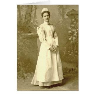 Enfermera Notecard del vintage Tarjeta Pequeña