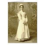 Enfermera Notecard del vintage Tarjetas