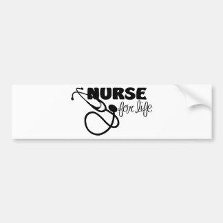 Enfermera para la vida pegatina para auto