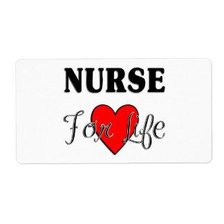 Enfermera para la vida etiqueta de envío