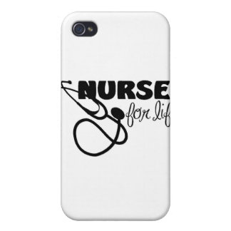 Enfermera para la vida iPhone 4 fundas