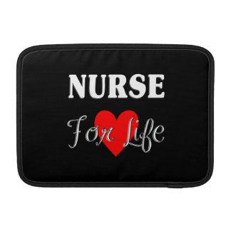 Enfermera para la vida funda para macbook air