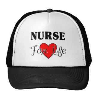 Enfermera para la vida gorras