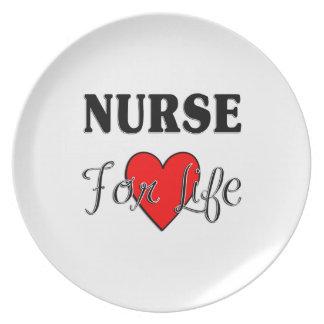 Enfermera para la vida platos para fiestas