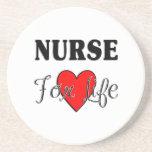 Enfermera para la vida posavasos de arenisca