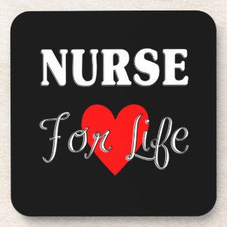 Enfermera para la vida posavasos de bebida