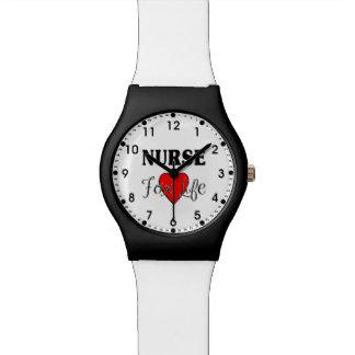 Enfermera para la vida relojes