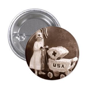 Enfermera patriótica 1917 pin redondo de 1 pulgada