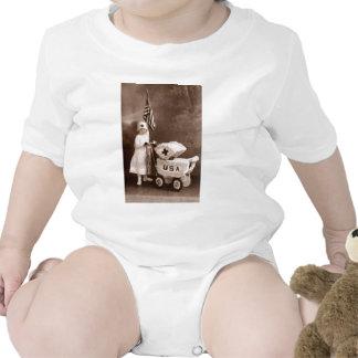 Enfermera patriótica 1917 trajes de bebé