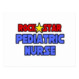 Enfermera pediátrica de la estrella del rock tarjetas postales