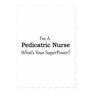 """Enfermera pediátrica invitación 5"""" x 7"""""""