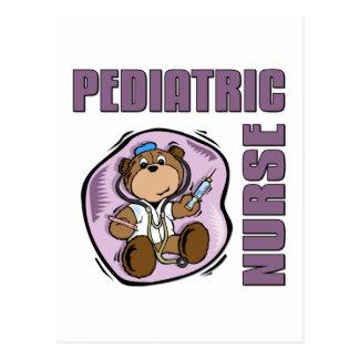 Enfermera pediátrica tarjetas postales
