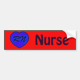enfermera pegatina para auto