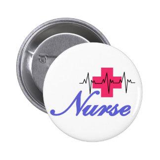 Enfermera Pin Redondo De 2 Pulgadas