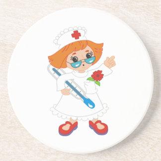 Enfermera Posavasos Diseño