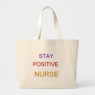 Enfermera positiva bolsa de mano