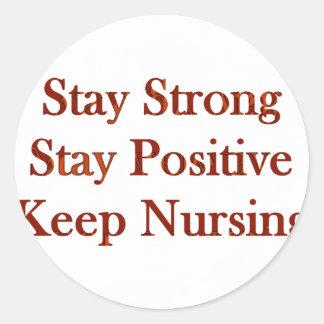 Enfermera positiva pegatina redonda