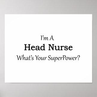 Enfermera principal póster