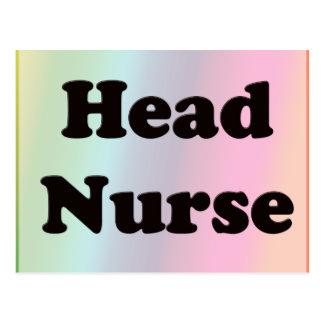 Enfermera principal tarjeta postal