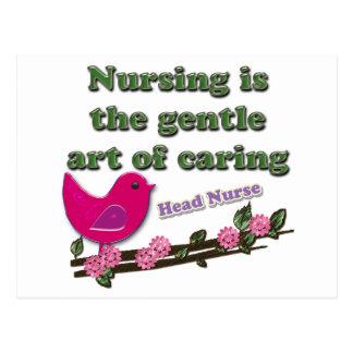 Enfermera principal tarjetas postales