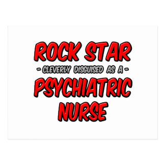 Enfermera psiquiátrica de la estrella del rock… postal