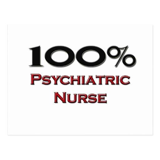 Enfermera psiquiátrica del 100 por ciento tarjeta postal