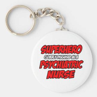 Enfermera psiquiátrica del super héroe… llavero redondo tipo pin