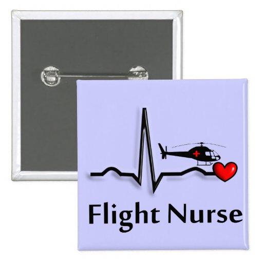 Enfermera QRS del vuelo y diseño del helicóptero Pin Cuadrado