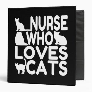 "Enfermera que ama gatos carpeta 1 1/2"""